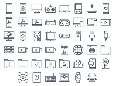 Technology Icons (Line)