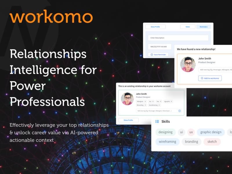 Workomo chrome extension - Case Study website web app profile plugins clean uiux ui browser chrome extension