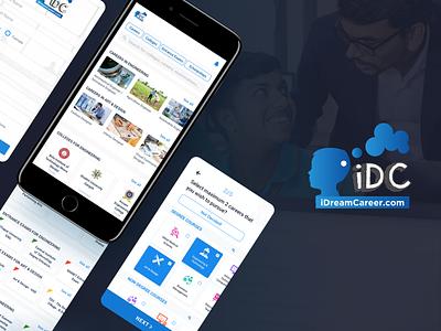 iDreamCareer (iDC) - Case Study minimal presentation career appui app course app case study webui course learing online education website uiux ui education