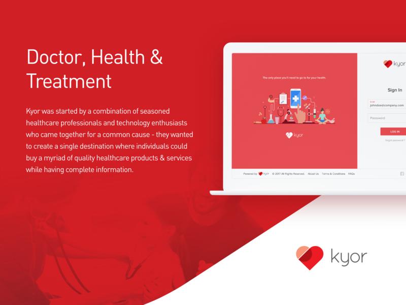 Kyor - Case Study webui website vector squareboat resources illustration icons download design colors casestudy web hospital clean kyor