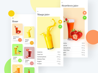 Fruit juice app UI