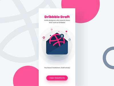 2x Dribbble Invites invite invitation icon giveaway dribbble design colors 2x ux ui