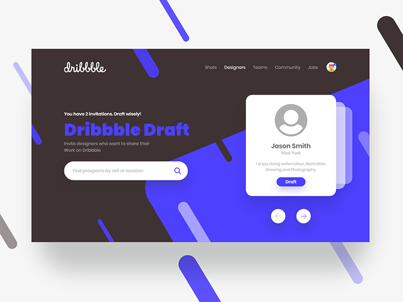 2x Dribbble Invites header landing ux ui invite invitation icon giveaway dribbble design colors 2x