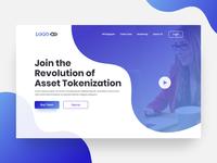 ICO Landing page UI