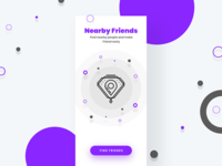 Adobe XD Playoff - Friends Finder Splash Screen