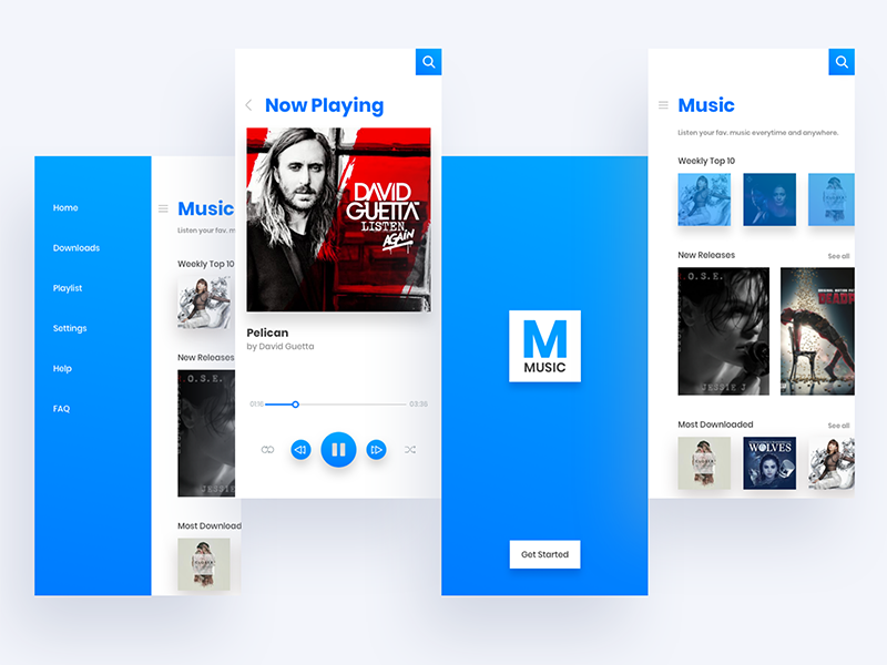 Music app screens ux ui screen player music iphonex sketchapp ios app xd adobe