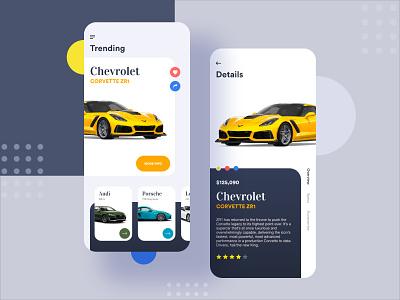 Sports Car Finder prateek car booking car care car  auto invite mobile app color landing page minimal design trending clean application app ui ux ui transport vehical sports car car
