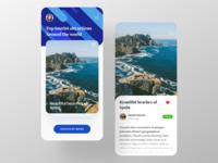 Travel blog app