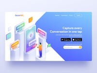 Voice Notes App Landing page