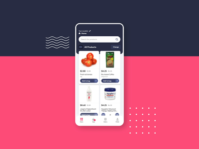 Add to cart interaction after effects interaction animation vegetable store shopping online minimal video grocery design colours clean branding appui application app