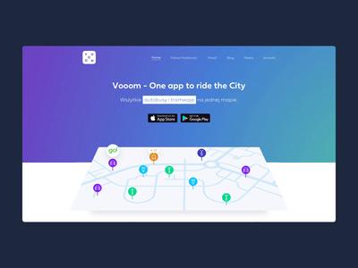 Vooom Homepage homepage design typography branding clean illustraion homepage website product business app ux ui