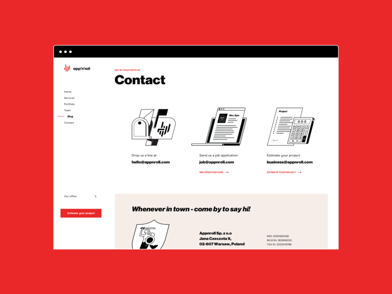 App'n'roll — Contact it software illustration website app business interface ux ui