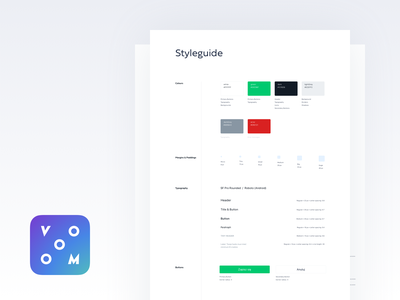 Vooom Styleguide typography design system styleguide app branding application product interface ui