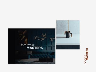 homeMASTERS business product clean logo branding interior web premium luxury home lifestyle