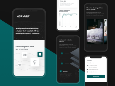 ADR-PRO™ Mobile Product Page red mobile website ux ui technology product landing  page it interaction dark background