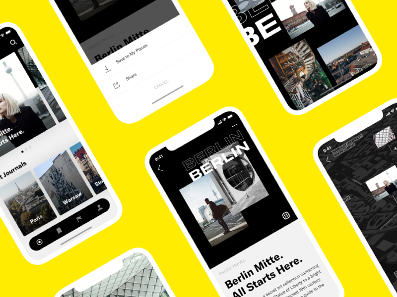 City Journal App app ui ux styleguide raw simple iphonex travel gallery photos
