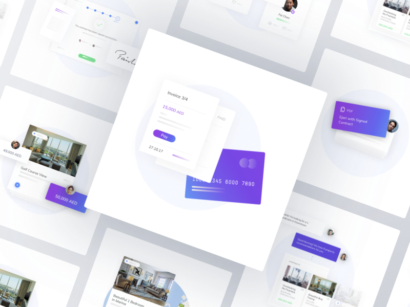 Rentloop Illustrations real estate landing product app business interface design illustration website icons landing page illustrations ux ui