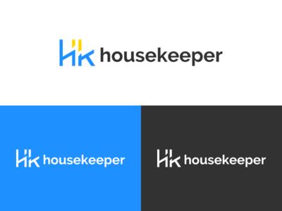 Housekeeper - Logo Horizontal negative space mark logo design logo housekeeping housekeeper