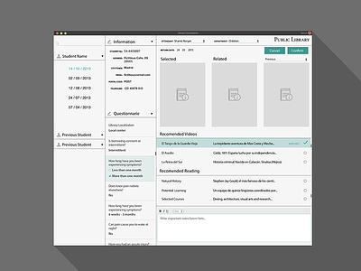 Library Consultation App - Flat library desktop flat