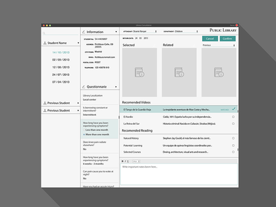 Library Consultation App - Flat