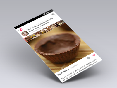 Guide Detail View Android android design sideshow app white guide detail recipe thumbnails cooking