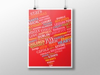 Poster Typographic Illustration
