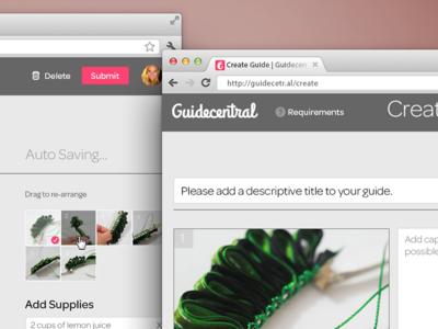 Create Guide Web App, Guidecentral