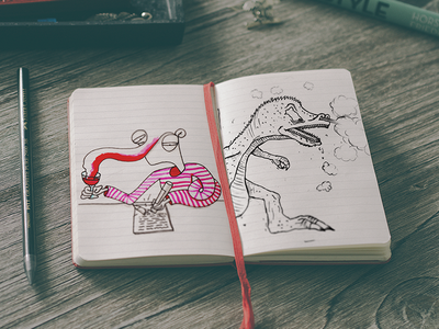 Sketchbook drawings drawings sketches book art illustration photography ink drinking dragons red black wine