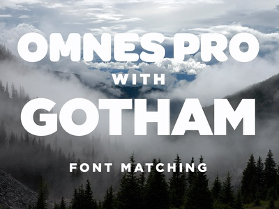 Font Matching omnes gotham fonts typography test type matching landscape nature