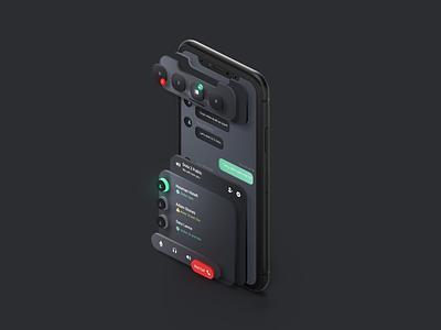 Discord Redesign - a Fluent Design Study microsoft fluent design concept design system isometric fluent chat voice product ui discord