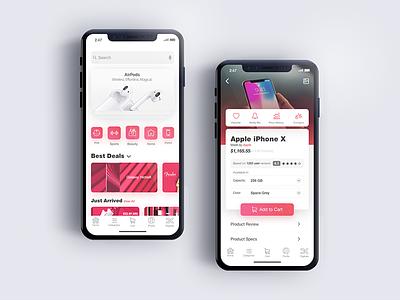 Digikala Redesign iphone x product homepage home iphone ui app shopping shop market retail digikala