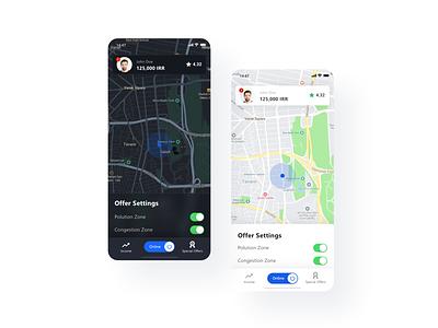 Snapp! Driver App Redesign redesign careem grab lyft uber dark mode ride sharing ridesharing ride driver app driver snapp logestics