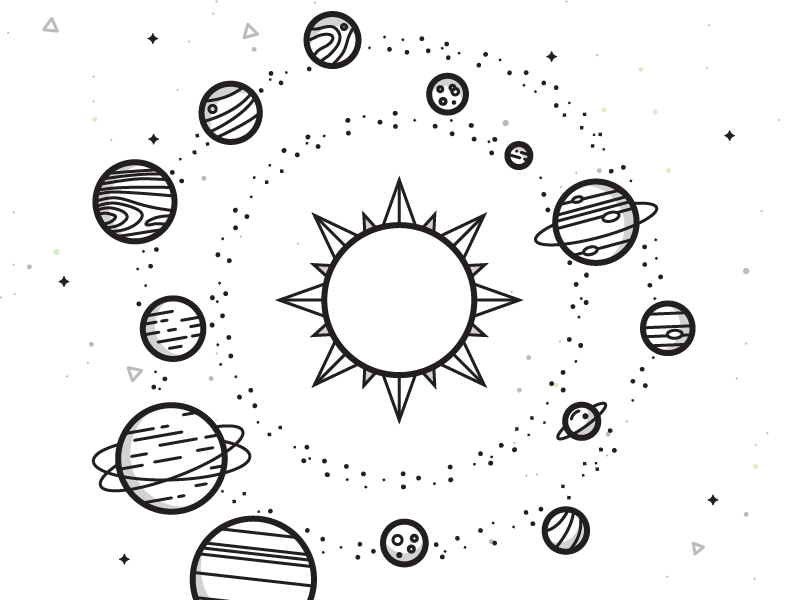 Solar System science solar system sun asteroids planets space