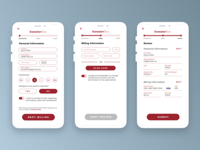 [Daily UI] 001 Sign Up // 002 Card Payment