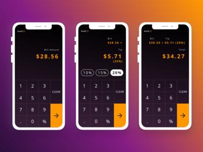 [Daily UI] 004 -  [Tip] Calculator