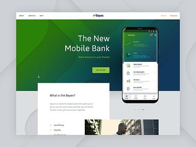Bayes Homepage responsive parallax deposit topup africa bills loan savings money finance bank