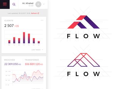 Flow (logo) payment kuwait dahsboard invoice logo flow