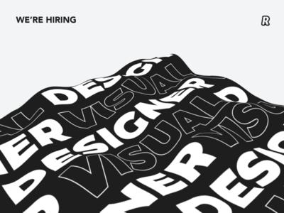 We are hiring a visual designer! minimalistic hiring visual design