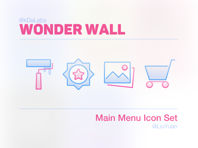 WONDER WALL Main Menu Icon Set wonder wall main memu icon set iphone ui lock screen ios