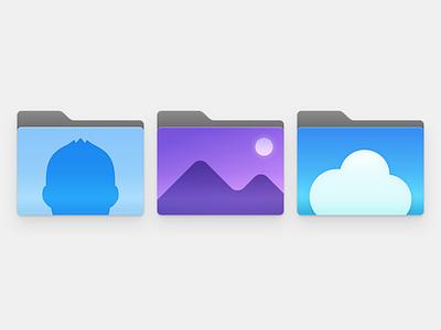 Folder Icon x3 @Dock dock osx mac folder icon