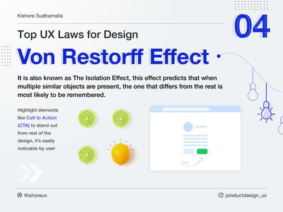 ⚡️Von Restorff Effect - Top UX Laws for Design - 04 ⚡️ uxui learnux productdesign uxlaws design ux design ux