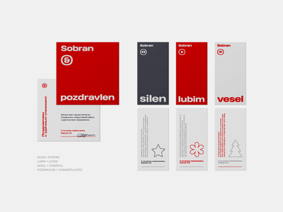SOBRAN warehouse typography type packaging package logistics horeca minimalism conceptualism