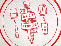 Beer & Pencils Coaster