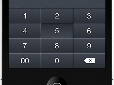 Number Pad ui iphone number pad numbers mobile