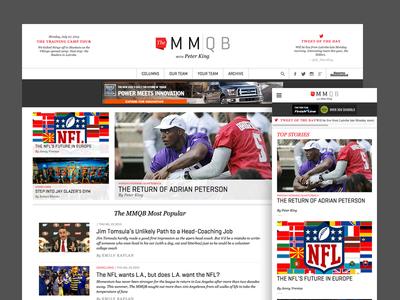 MMQB website redesign drupal responsive football mmqb