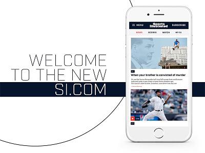 New SI.com responsive website sports