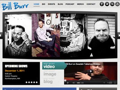 Bill Burr Website by Louis Gubitosi on Dribbble