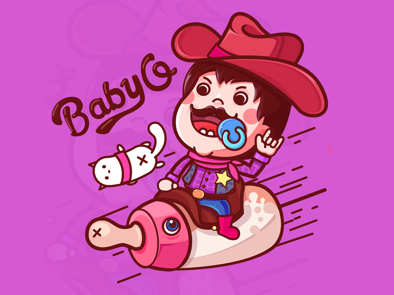 baby q character illustration