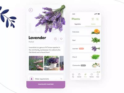 🌿 Herbals list design for German gardeners & farmers! herbalist herbals plants farm catalog lavander basil vegetables herbal leaves leaf animation after effect figma 3d germany austria switzerland smooth animation