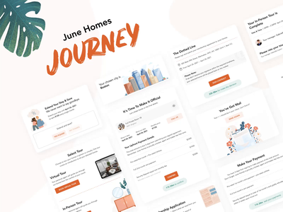 ⛺️ Lead Journey | CRM funnel for clients. 3d shadows sales jungle leaf cleaning contract leads illustrations steps animation progress bar loading ui web crm lead journey map progress journey